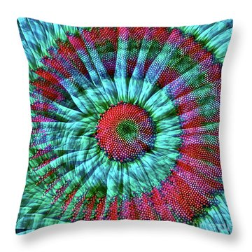 Life As A Daisy Throw Pillow by Gwyn Newcombe