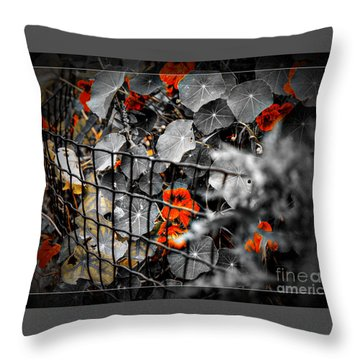 Life Behind The Wire Throw Pillow