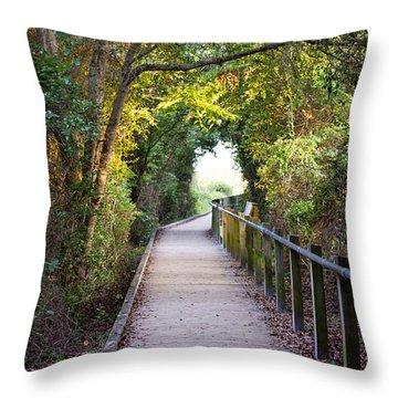 Life Beyond The Path Throw Pillow