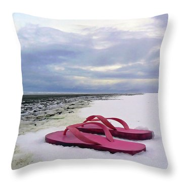 Life Can Be A Beach  Throw Pillow