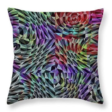 Life Currents Throw Pillow by Mimulux patricia no No
