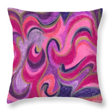 Throw Pillow featuring the painting Life Energy by Ania M Milo