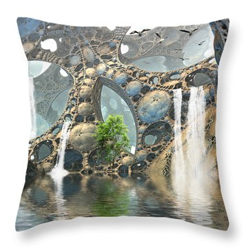 Life Finds A Way Throw Pillow by Hal Tenny