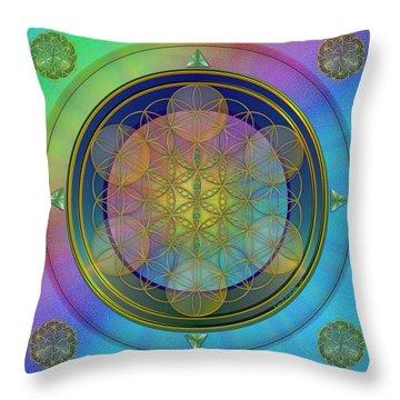 Life Flower Throw Pillow