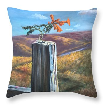 Throw Pillow featuring the painting Triumphant by Randol Burns