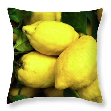 Throw Pillow featuring the photograph Life Gives You Lemons by Sandy Molinaro