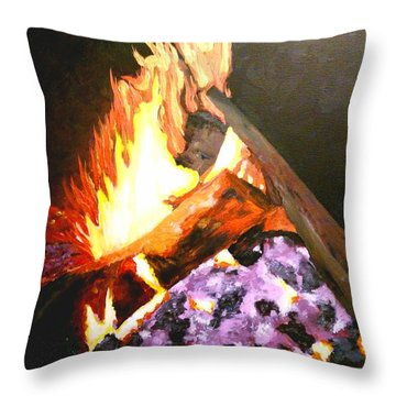 Life Goes On Throw Pillow
