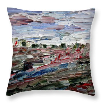 Life Goes On Throw Pillow by Vadim Levin