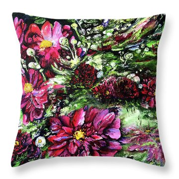 Life In A Bloom Field Throw Pillow