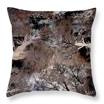 Life In A Bush Of Ghosts Throw Pillow