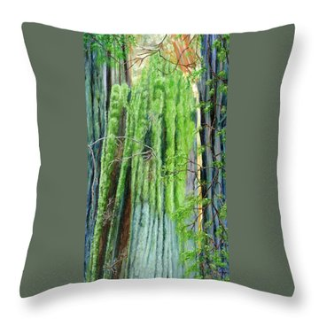 Life In A Redwood Forest Throw Pillow