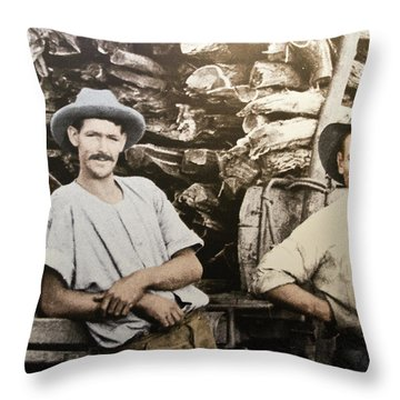 Throw Pillow featuring the photograph Life In Australia 1901 To 1914 by Miroslava Jurcik