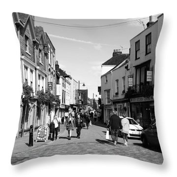 Life In Canterbury Throw Pillow