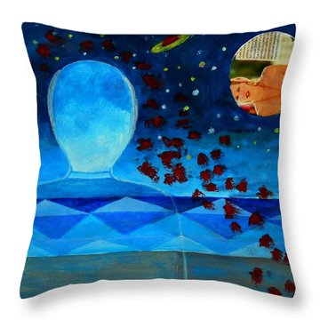 Life In Glass And Fake World Throw Pillow