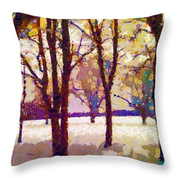Life In The Dead Of Winter Throw Pillow