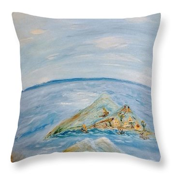 Life In The Middle Of The Ocean Throw Pillow