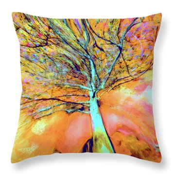 Life In The Trees Throw Pillow