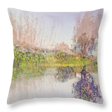 Life In The Water Villages Throw Pillow