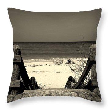 Life Is A Beach Throw Pillow