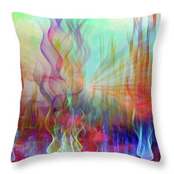 Throw Pillow featuring the digital art Life Is A Beautiful Mystery by Linda Sannuti