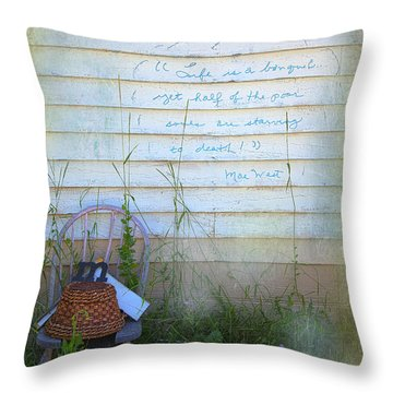 Throw Pillow featuring the photograph Life Is A Bouquet by Craig J Satterlee