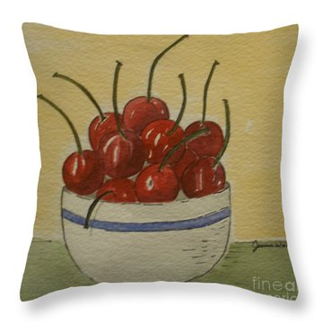 Life Is A Bowl Of.... Throw Pillow