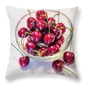 Life Is A Bowl Of Throw Pillow