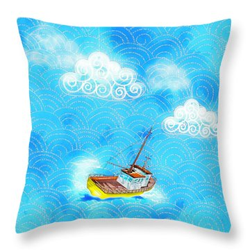 Life Is A Great Adventure Throw Pillow