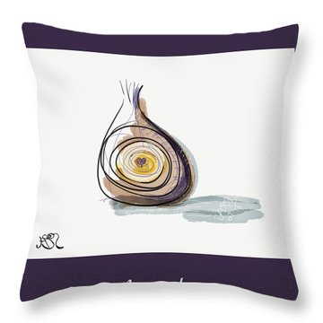 Life Is A-peeling Throw Pillow