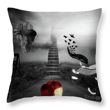 Life Is A Stage Throw Pillow by Mo T