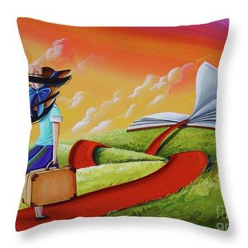 Life Is An Open Book Throw Pillow