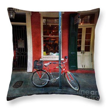 Throw Pillow featuring the photograph Life Is Good Bicycle by Craig J Satterlee