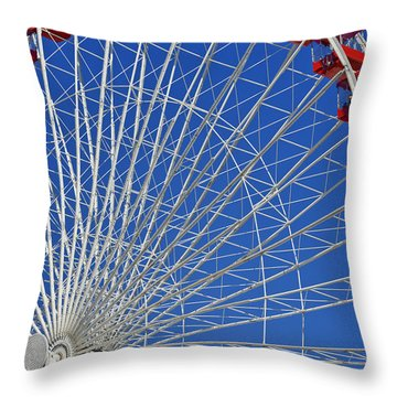 Life Is Like A Ferris Wheel Throw Pillow