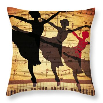 Life Is Music Throw Pillow