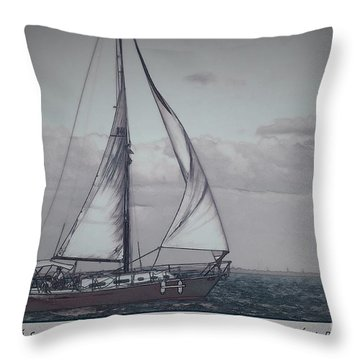 Life Is The Journey Throw Pillow