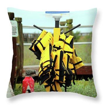 Life Jacket Station Throw Pillow
