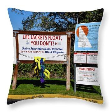 Life Jackets Float Throw Pillow