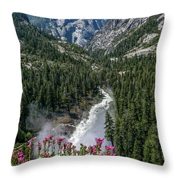 Life Line Of The Valley Throw Pillow