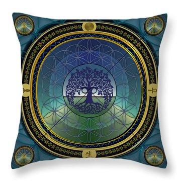 Life Mandala Throw Pillow