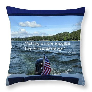 Throw Pillow featuring the photograph Life Of Leisure by Peggy Hughes