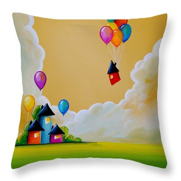 Life Of The Party Throw Pillow by Cindy Thornton