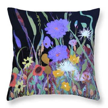 Throw Pillow featuring the painting Life On A Summer's Day by Robin Maria Pedrero