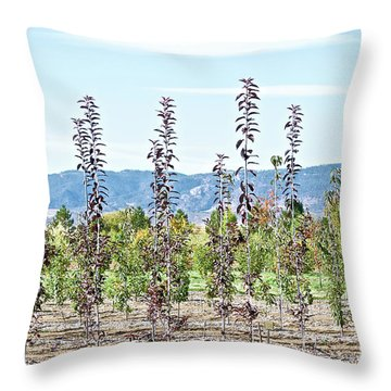 Life On A Tree Farm-foothills View #1 Throw Pillow