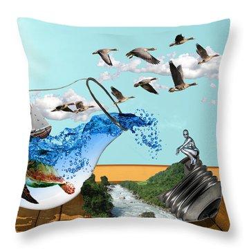 Life On Earth Throw Pillow