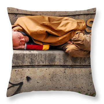 Life On The Street Throw Pillow