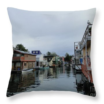 Life On The Water Throw Pillow