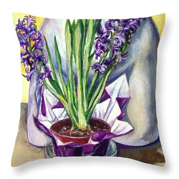 Throw Pillow featuring the drawing Life Spring by Laura Aceto