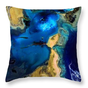 Life Stream Throw Pillow