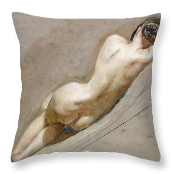 Life Study Of The Female Figure Throw Pillow by William Edward Frost