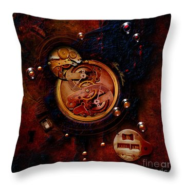 Life Time Machine Throw Pillow